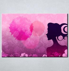Slika na platnu Devojka silueta Nina3068_P