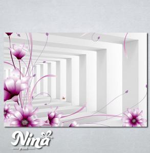 Slike na platnu 3d Ljubicasti cvet Nina345_P