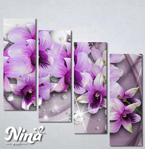 Slike na platnu 3d Ljubičasto cveće Nina316_4