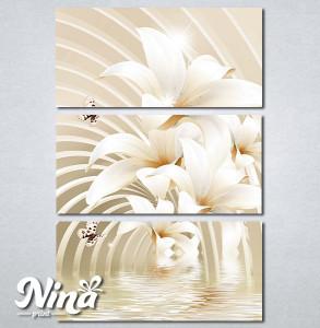 Slike na platnu Beli cvet i leptiri Nina279_3