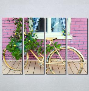 Slike na platnu Bicikl sa cvecem Nina30214_4