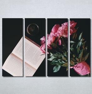 Slike na platnu Buket cveća i knjiga Nina30243_4