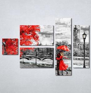 Slike na platnu crveni kisobran i haljina Nina 197_5