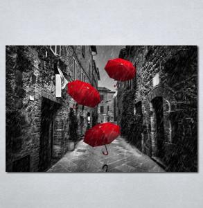 Slike na platnu Crveni kisobrani Nina209_P