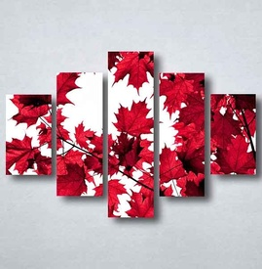 Slike na platnu Crveno lišće Nina091_5