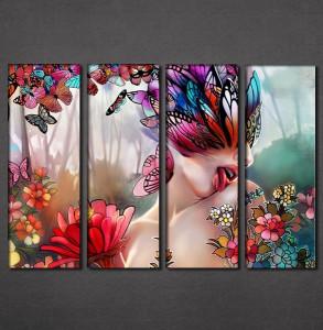 Slike na platnu Cveće i leptiri Nina3092_4