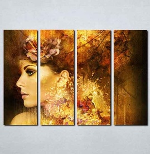 Slike na platnu Devojka apstraktno Nina084_4