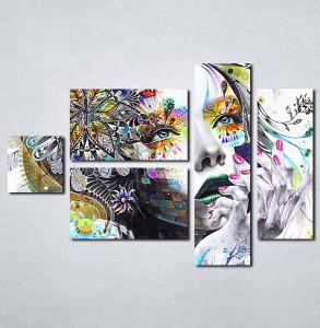 Slike na platnu Devojka boje apstraktno Nina086_5