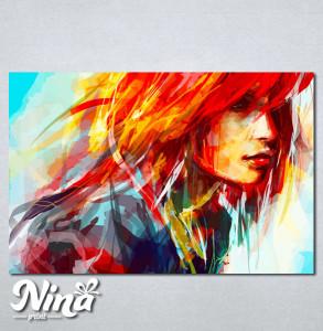 Slike na platnu Devojka boje art Nina253_P