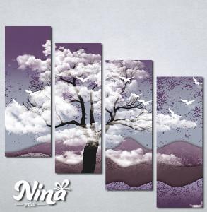 Slike na platnu Drvo i ptice Nina325_4
