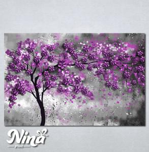 Slike na platnu Drvo ljubičasto lišće Nina297_P
