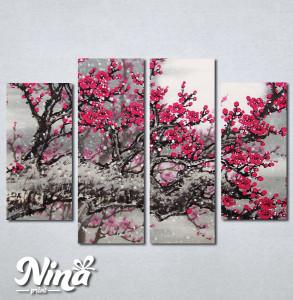 Slike na platnu Drvo roze cvet Nina234_4