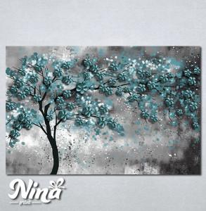 Slike na platnu Drvo Tirkizno lišće Nina298_P
