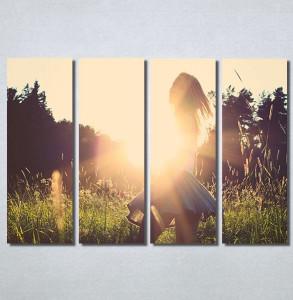 Slike na platnu Girl and sunset Nina30169_4