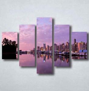 Slike na platnu Grad i noć Nina092_5