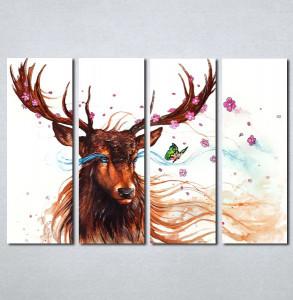 Slike na platnu Jelen art Nina067_4