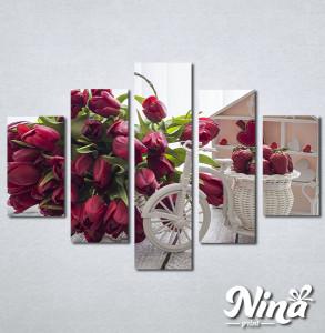 Slike na platnu Lale i jagode Nina307_5