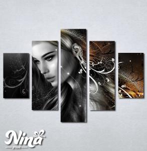 Slike na platnu Mistična devojka Nina227_5