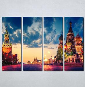 Slike na platnu Moskva Crveni trg Nina049_4
