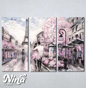 Slike na platnu Pariz zaljubljeni par Nina237_3