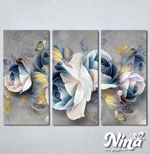 Slike na platnu Pastelno plavi cvet Nina305_3