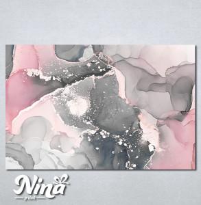 Slike na platnu Sivo roze apstrakcija Nina334_P