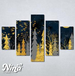 Slike na platnu Šuma apstraktno Nina289_5