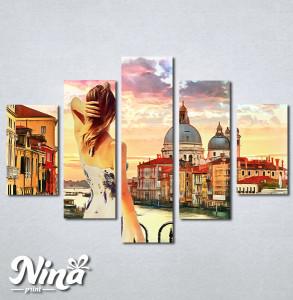 Slike na platnu Venecija kanal Grande Nina317_5