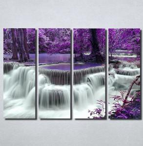 Slike na platnu Vodopad i ljubičasto lišće Nina100_4