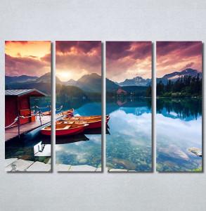 Slike na platnu Zalazak sunca na jezeru Nina30277_4