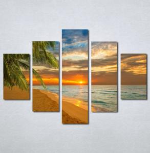 Slike na platnu Zalazak sunca na plazi Nina142_5