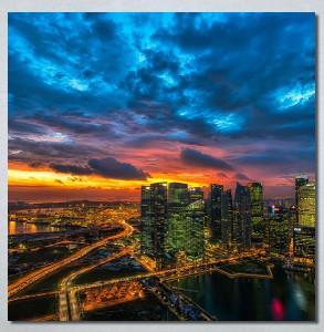 Slike na platnu Zalazak sunca u gradu Nina30247