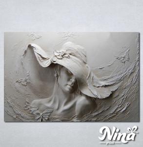 Slike na platnu Zena sa sesirom Nina330_P