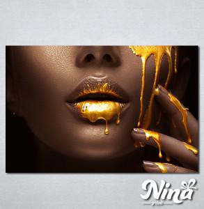 Slike na platnu Zlatna boja na usnama Nina328_P
