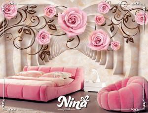 Foto tapet 3d tapet Elegantne roze ružeTapet256