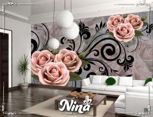 Foto tapet Roze ružeTapet225