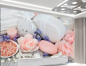 Foto tapet Wellness spa Roze ruže Tapet248