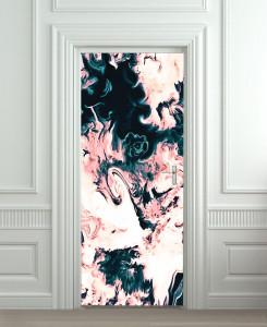 Nalepnica za vrata Apstrakcija 6162