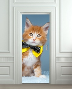 Nalepnica za vrata Mačka sa mašnom 6016