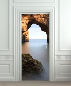 Nalepnica za vrata Stena na moru 6147