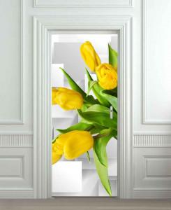 Nalepnica za vrata Žute lale 6218