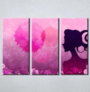 Slika na platnu Devojka silueta Nina3068_3