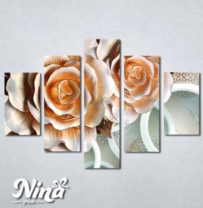 Slike na platnu 3d Bež ruže Nina315_5