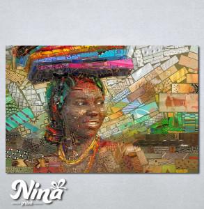 Slike na platnu Afrikanka 232_P