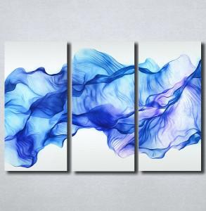 Slike na platnu Apstrakcija plavo Nina161_3