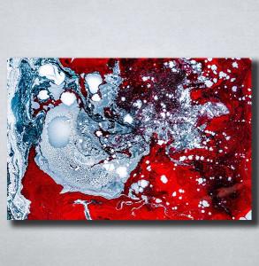 Slike na platnu Apstrakcija razlivene boje Nina176_P