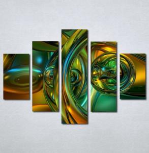 Slike na platnu Apstrakcija zeleno Nina121_5