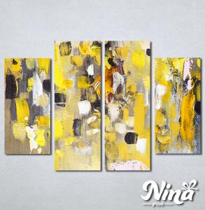 Slike na platnu Apstrakcija žuto Nina306_4