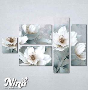 Slike na platnu Beli cvet Nina262_5