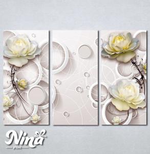 Slike na platnu Bež ruža Nina274_3